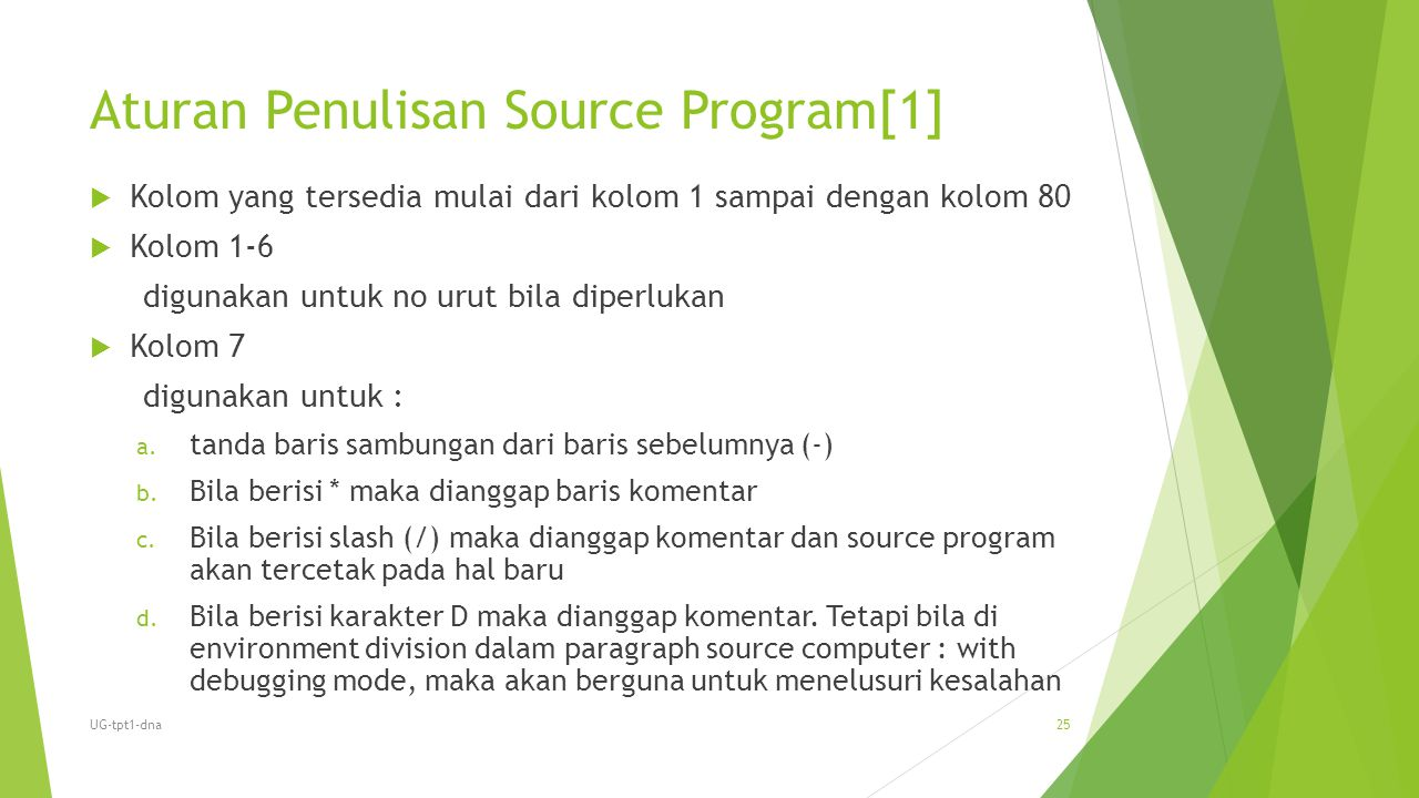 Aturan Penulisan Source Program[1]